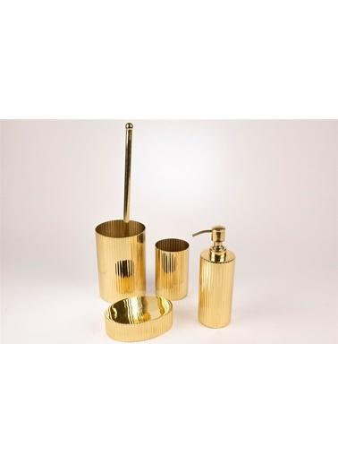 Mikasa Moor Gold Yuvarlak 4 Parça Banyo Seti Altın
